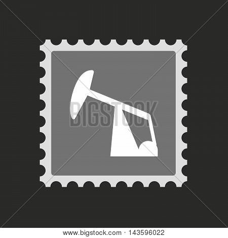 Isolated Mail Stamp Icon With A Horsehead Pump