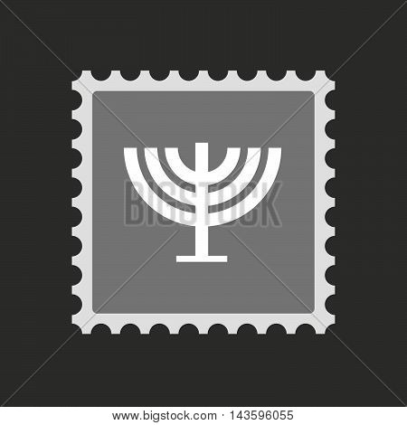 Isolated Mail Stamp Icon With A Chandelier