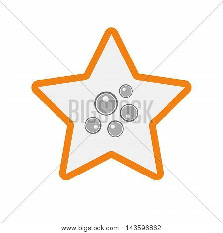 Isolated Line Art Star Icon With Oocytes