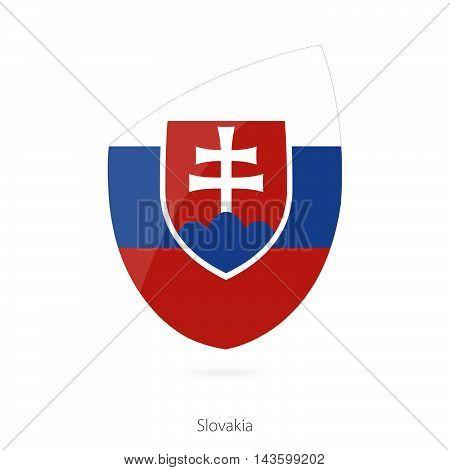 Flag Of Slovakia. Slovakian Rugby Flag.