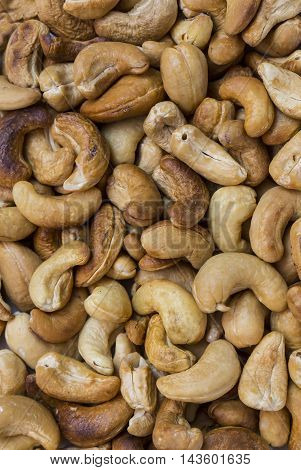 background cashew close-up shot Mixed Salted Nutty