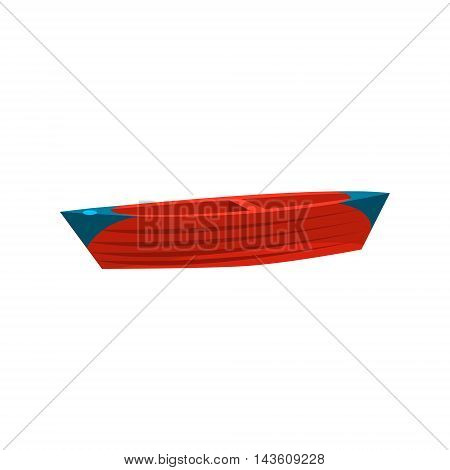 Simple Peddle Toy Boat Bright Color Icon In Simple Childish Style Isolated On White Background