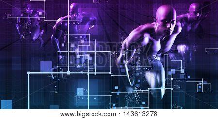 System Integration Concept of Two Business Partners 3D Illustration Render