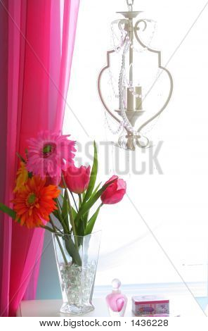 Flower Vase In A Window