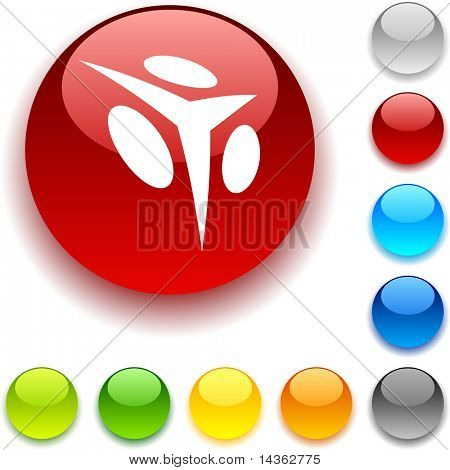 Abstract shiny button. Vector illustration.