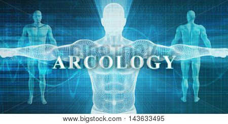 Arcology as a Medical Specialty Field or Department 3D Illustration Render