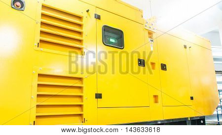 Industry Background Generators yellow Try for electrical appliances