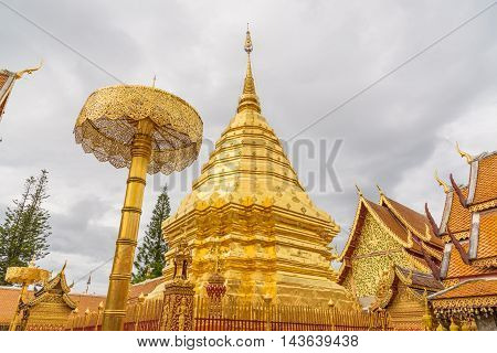Wat Phra That Doi temple in Chiang Mai Province, Thailand.