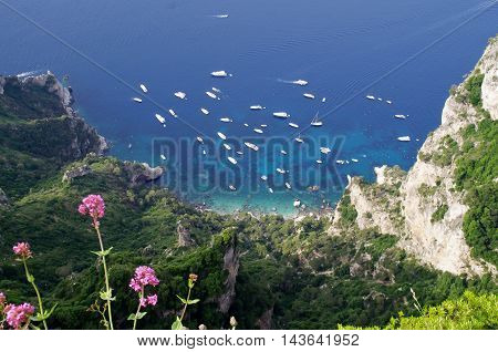 Capri beautiful island in italy mediterranean sea