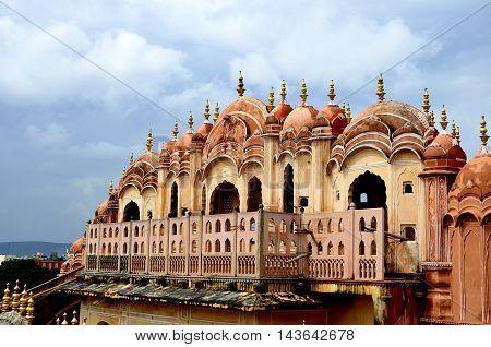JAIPUR INDIA - FEB 15: Hawa Mahal palace - Palace of the Winds on FEB 15 2015 Jaipur India.