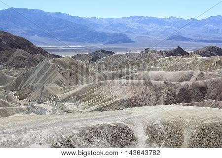 view at Zabriskie point in the Death Valley