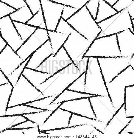 Lines chaotic seamless pattern. Fashion graphic background design. Modern stylish abstract texture. Monochrome template for prints textiles wrapping wallpaper website etc Stock VECTOR illustration