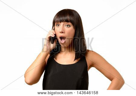 Young Woman Receiving Bad News On Her Mobile