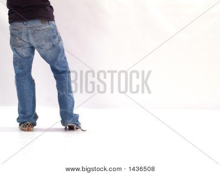 Jeans Of Teen Boy