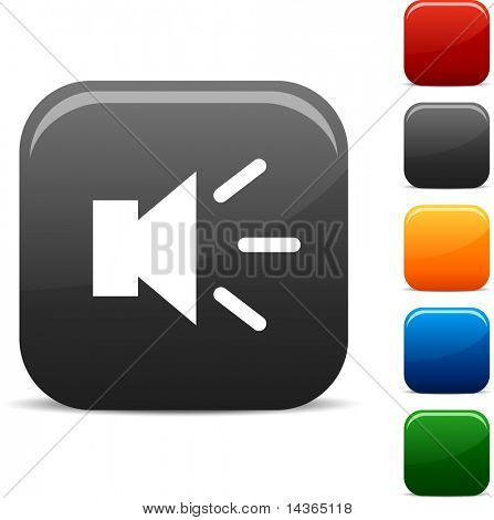 Sound icon set. Vector illustration.
