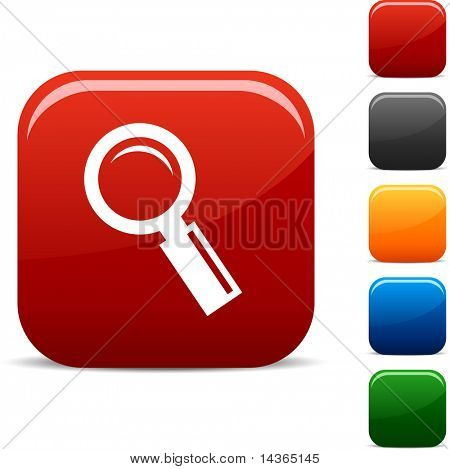 Searching  icon set. Vector illustration.