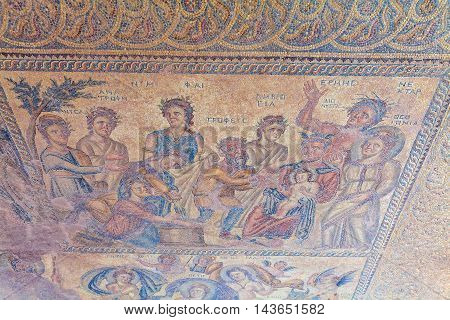Ancient Mosaics In The Archaeological Site, Paphos