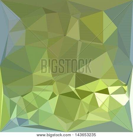 Low polygon style illustration of a olive drab abstract geometric background.