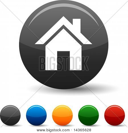 Home icon set. Vector illustration.