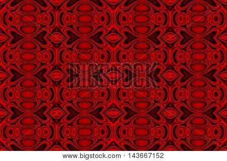 Illustration of red and black ornamental pattern