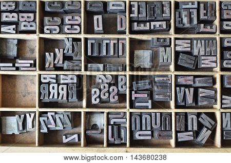 Letterpress Letters In A Wooden Box
