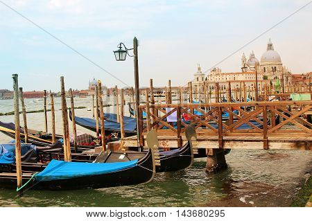 Boats in Venice on the Bacino di San Marco Italy