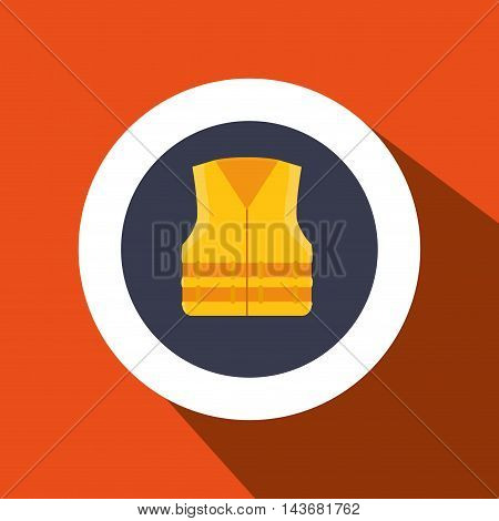 vest protection industrail icon vector illustration design