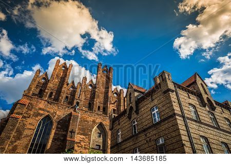 Architecture of old town in Gdansk Europe .