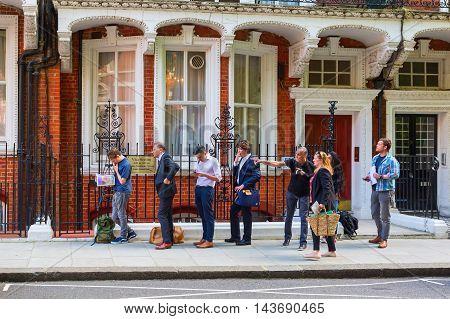 People At The Embassy Of Azerbaijan In London