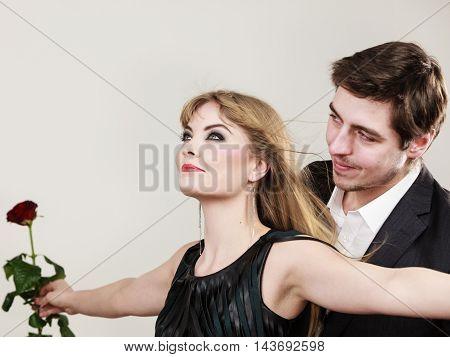 Enamoured Couple In Titanic Gesture.