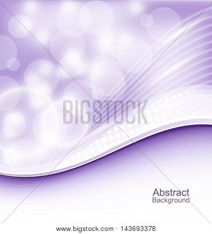 Illustration Abstract Wavy Background for Your Design - Vector