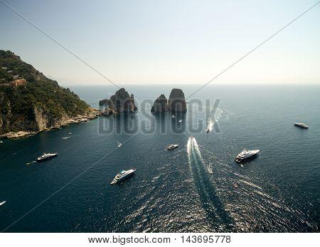 Aerial View of Capri Island, Italy
