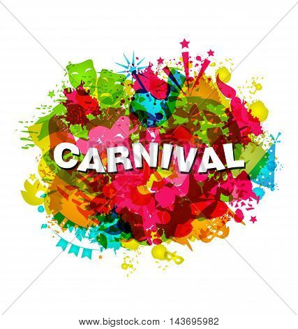 Carnival Splotch Abstract Grunge Style Watercolor Background - vector