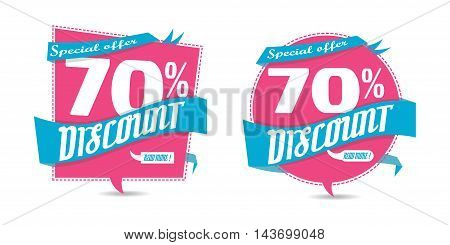 sale tag banner discount business sticker with percent