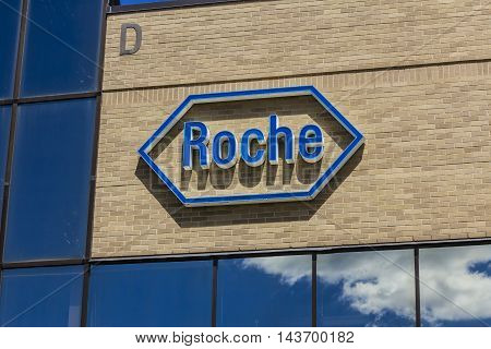 Indianapolis - Circa August 2016: Roche Diagnostics U.S. Headquarters. Roche Diagnostics is a Global Leader in Healthcare I