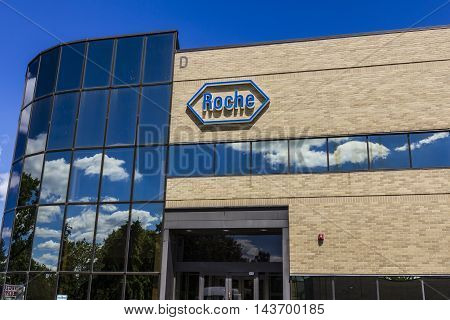 Indianapolis - Circa August 2016: Roche Diagnostics U.S. Headquarters. Roche Diagnostics is a Global Leader in Healthcare III