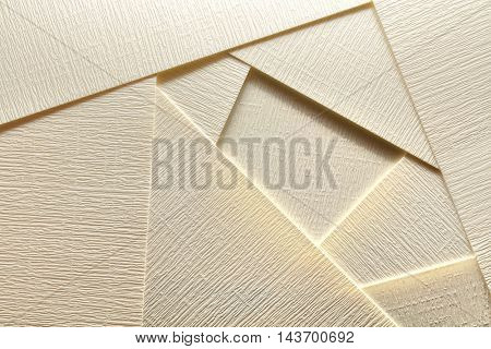 abstract geometric design with golden paper