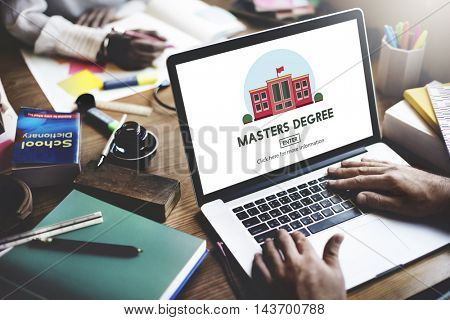 Masters Degree Education Knowledge Concept