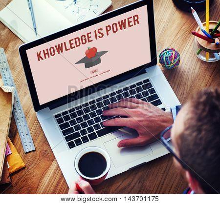 Knowledge Is Power Education Graduation Successful Concept