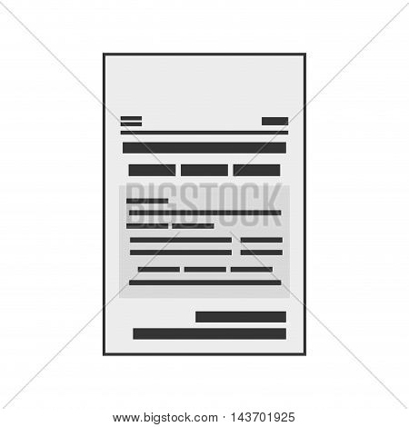 flat design paper document icon vector illustration