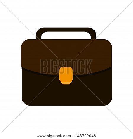 flat design business briefcase icon vector illustration