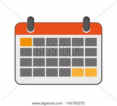 flat design paper calendar icon vector illustration