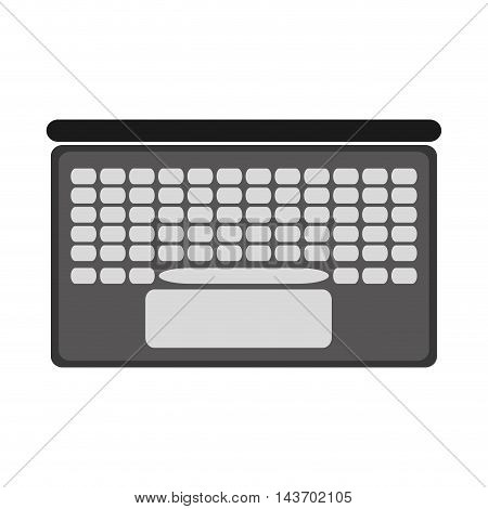 flat design laptop topview icon vector illustration