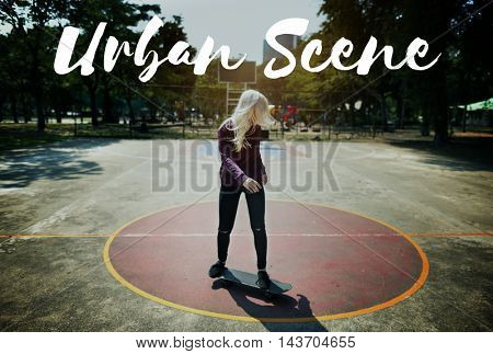 Skateboard Lifestyle Recreation Extreme Sport Concept