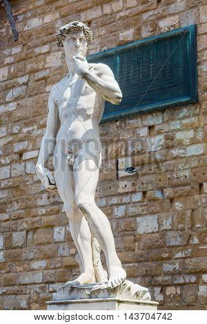 David Sculpture In Florence, Italy