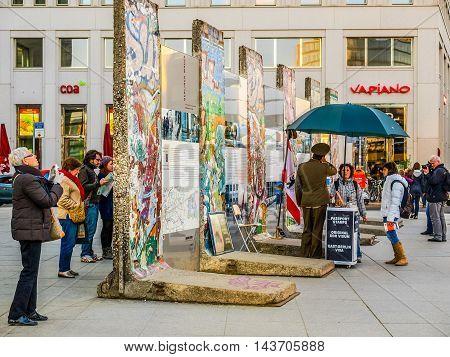 Berlin Wall In Berlin (hdr)