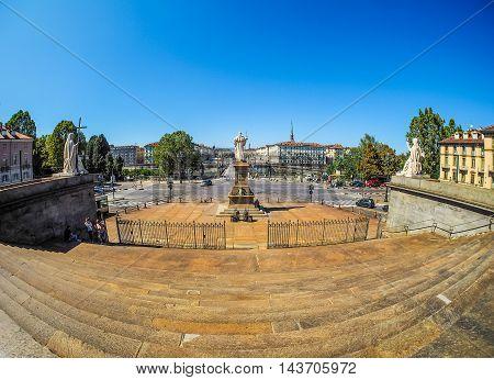 Piazza Vittorio In Turin (hdr)