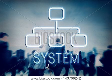 System Organization Chart Business Company Concept