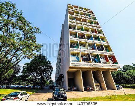 Corbusierhaus In Berlin (hdr)