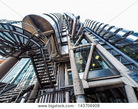 Lloyds Building In London (hdr)